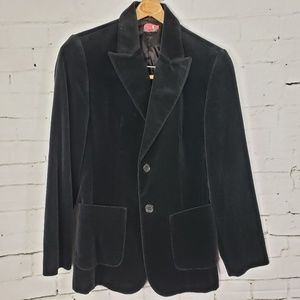Black Velvet Blazer United Colors of Benetton 4